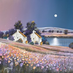 Tidal Moon by John Mckinstry - Original Painting on Box Canvas sized 24x24 inches. Available from Whitewall Galleries